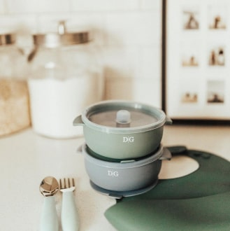 Baby Suction Bowl - Meadow