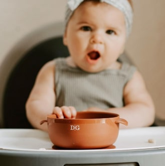 Baby Suction Bowl - Terracotta