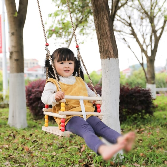 Wooden Baby Swing For Babies And Toddlers